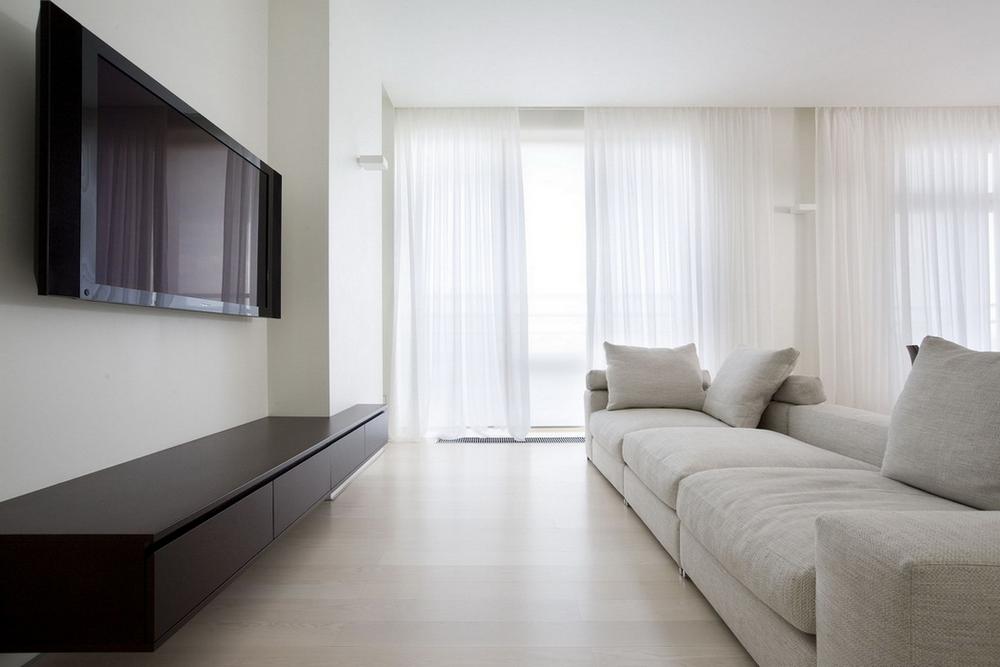 Квартира в белых тонах фото